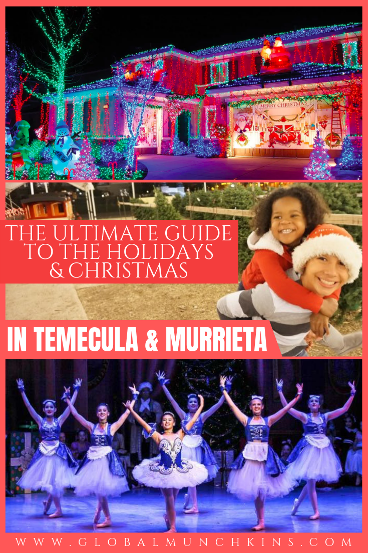 The weather is finally beginning to cool, Christmas commercials are on TV, catalogs are arriving in the mail and the holiday tunes are starting to play. By far, Christmas is my most favorite time of the year. This year I have scoured the town and the internet to find the ultimate guide of the best things to do during the holiday season and for Christmas in Temecula & Murrieta. #christmas #christmasvacation #christmasgetaway #holiday #holidayseason #temucla #murrieta #traveldestinations