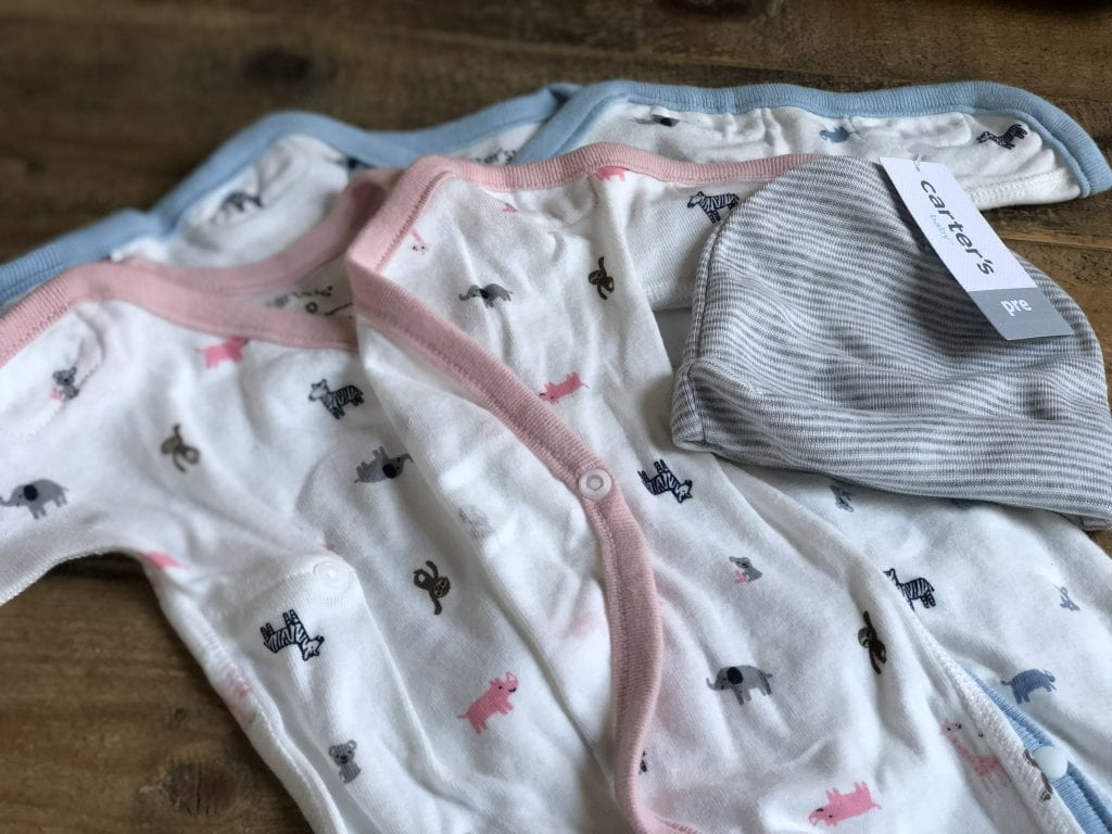 """Carter's is a trusted brand for parents of preemies. Now their new line has added features to serve babies while they are still in NICU. The new line features smaller sizes, plastic buttons and Velcro closures. Plus, adorable sayings like """"My Heroes Wear Scrubs"""". #sponsored @CartersBabyKids #LoveCarters"""