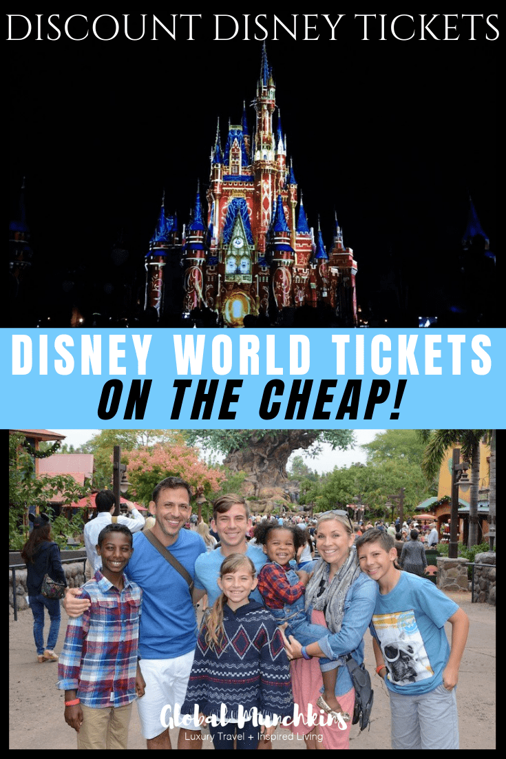One of the ways we save money on Disney World Tickets is by getting Discount Disney Tickets. Now, these are not the kind where you end up in a 90-minute timeshare presentation to save some dough. These are super easy ways to save a little extra cash on your Disney World Vacation! Check them out! #disney #discount #savebig #savings #traveltips #disneytips #familyvacation #adventure #familybonding #disneyworld