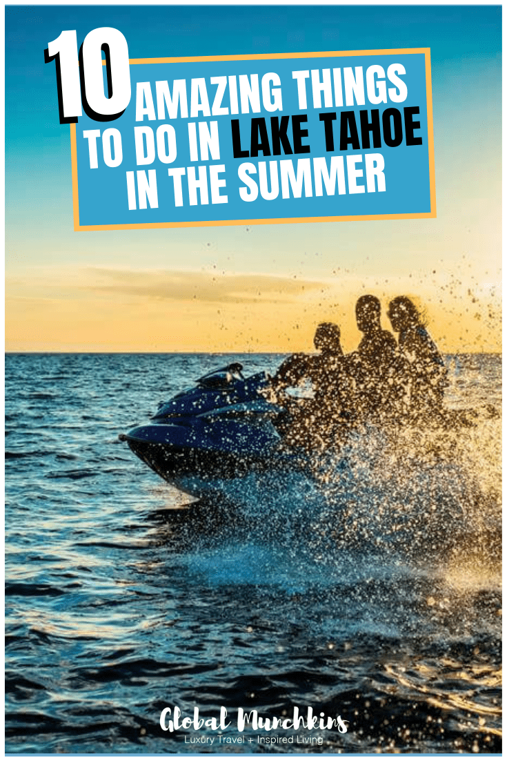 While Lake Tahoe is gorgeous year-round, visiting in summer is especially wonderful, with perfect weather, great hiking options, and lots of on-the-water activities. Here are the 10 best things to do in Lake Tahoe in summer time. #laketahoe #summer #summertime #traveltips #traveldestinations #travel #wanderlust #bucketlist #familyvacation