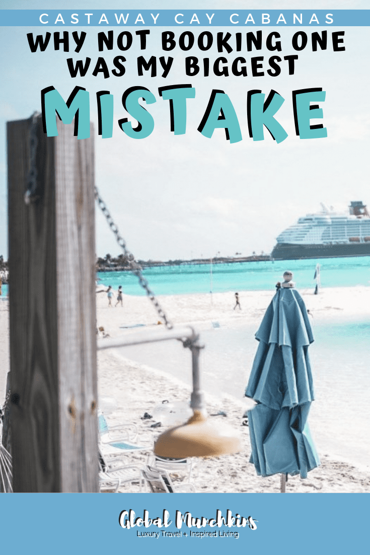 Well, recently on our last Disney Cruise our friends from Tinks Magical Vacations booked a family cabana. We went and visited them and then I realized my biggest mistake for all my Disney Cruises was not booking one of these amazing cabanas. Check out why this was my biggest mistake! #castawaycay #cabanas #travelguide #traveltips #travel #disney #disneycruises