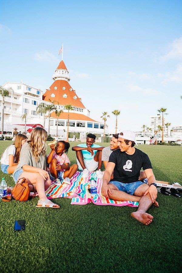 Coronado Beach Hotels - Lawn of Hotel Del Coronado