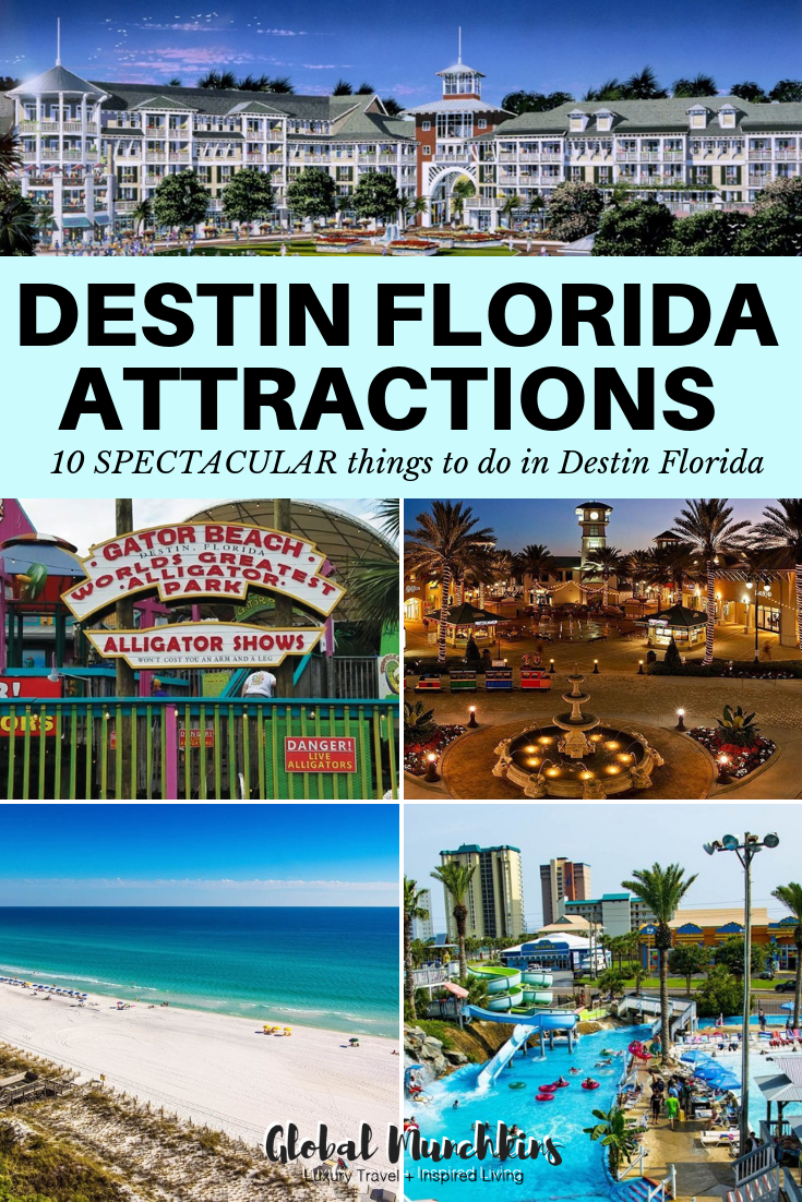 Located on Florida's Emerald Coast, Destin is famous for gorgeous beaches, beautiful water, and lots of family fun activities. In fact, Destin has been named one of the top family travel destinations in the US. There is an endless number of things to do in Destin, Florida. Thus, here are our top 10 Destin Florida attractions to hit up this summer. #summer #vacation #destin #traveldestination #traveltips #familyvacation #travelguide #floridatravel #florida #destinflorida #floridaattractions #familyfun