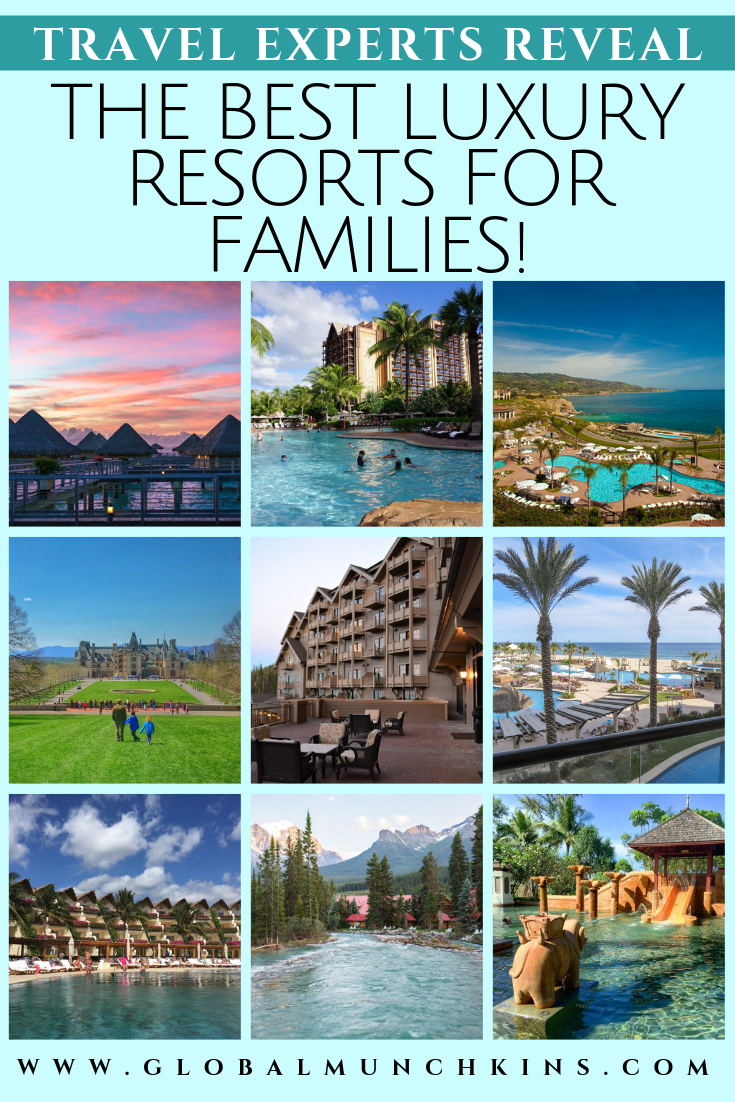 Luxury Resorts + Kid-Friendly are not two words you often see together but thanks to millennial parents who value experiences over things & Gen Xer's continuing to dominate the luxury family travel market top brands are taking notes and making changes with their youngest guests in mind. Here are the best kid-friendly luxury resorts! #resorts #luxury #luxuryresorts #familyvacation #vacation #travel #traveltips #vacation #trip