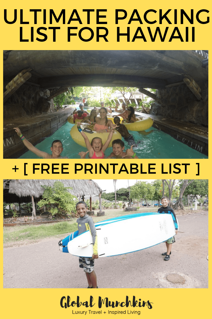 Here is the ultimate packing list for Hawaii plus I included a free printable so that you can print and simply start checking off. #packinglist #hawaii #vacation #travel #traveltips #packingtips