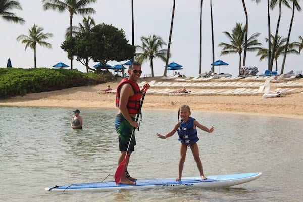 Paddleboarding at Disney Aulani Hawaii