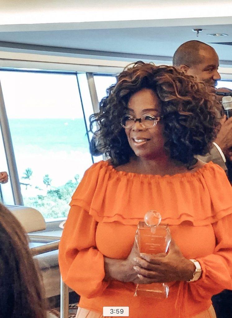 Oprah with Award