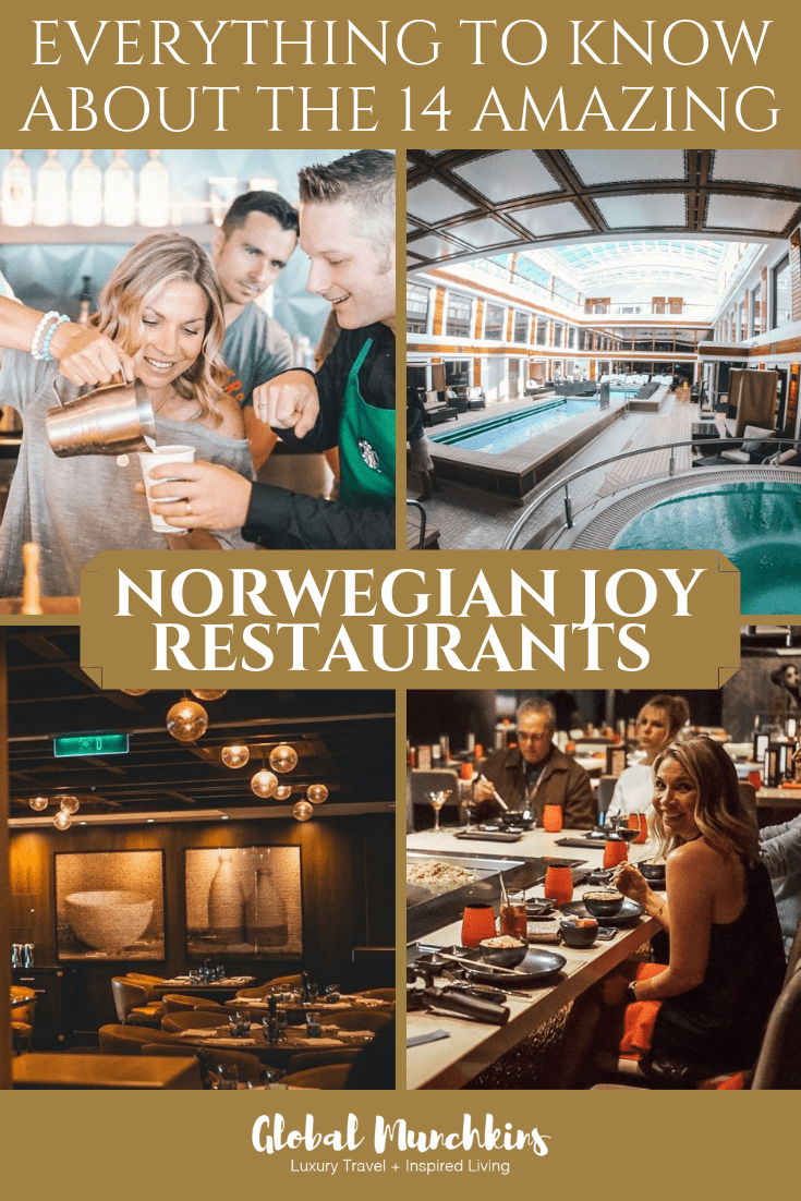 We all remember the days of camper style dining on Cruise ships where you were sat down at the same dinner table with strangers or ate at standard buffets with little variety. In those days the experience felt more like being shepherded like children into a cafeteria. This is no longer the case on many cruises, and the Norwegian Joy is home to so many incredible restaurants. We explored as many of the 14 Norwegian Joy Restaurants as possible. Check them out! #cruise #NCL #cruiseships #traveltips