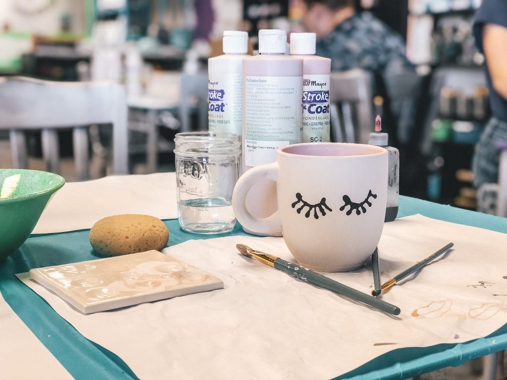 Burst of Butterflies is a fun place for families visiting Tempe. You can paint your own pottery and they will ship it home to you.