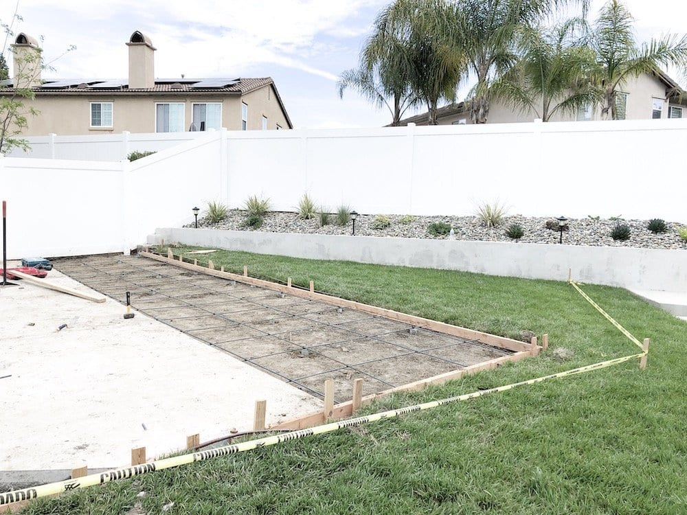Backyard Court Installation Process
