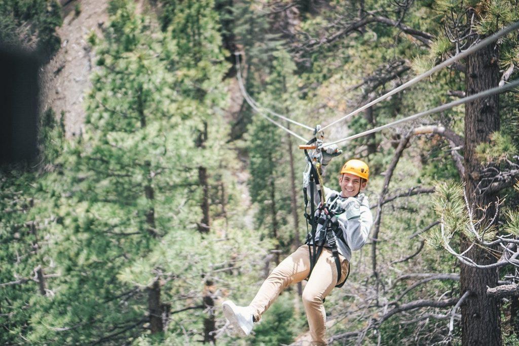 Ziplining in LA
