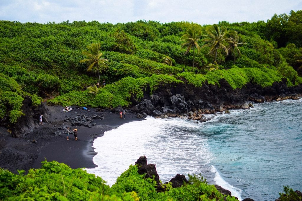 Maui Must Do – Visit The Beautiful Black Sand Beach of Maui!