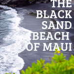 black sand beach of maui