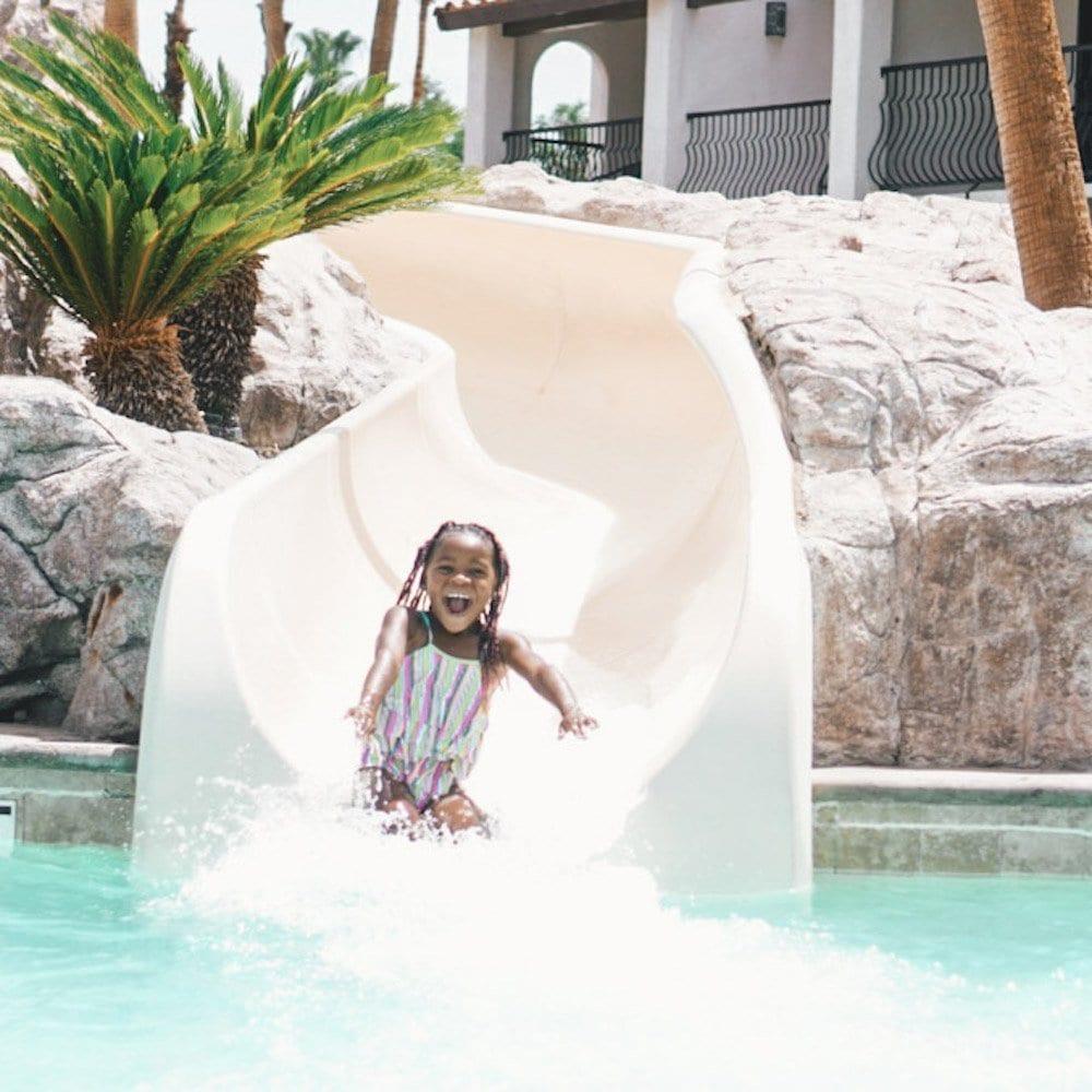 water slides at palm springs resort