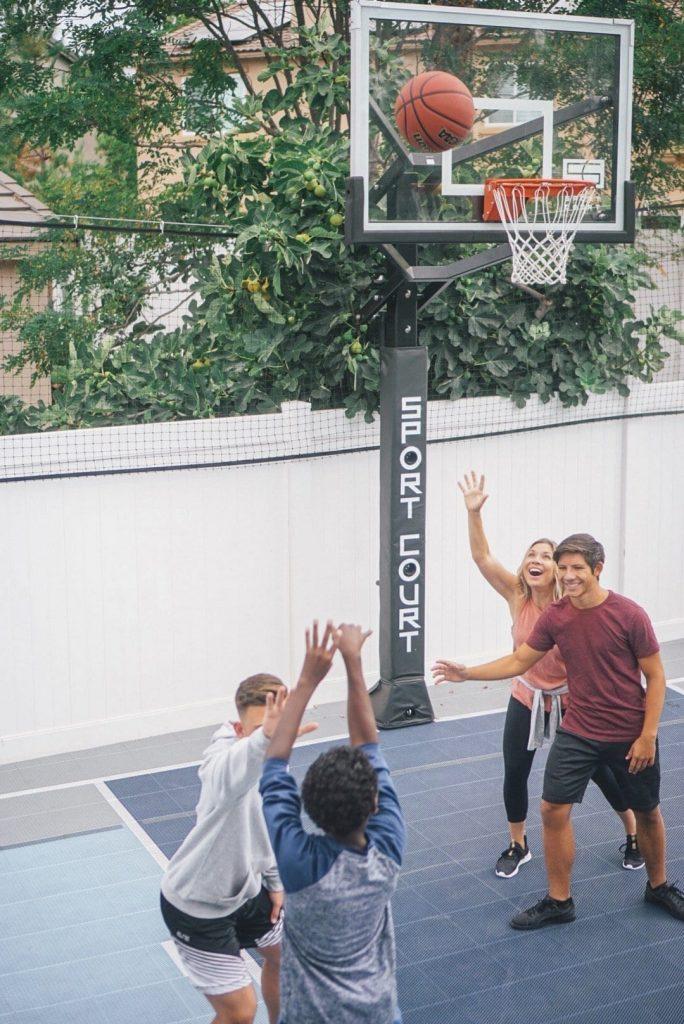 Sport Court Multi Game Backyard Court. Backyard basketball court