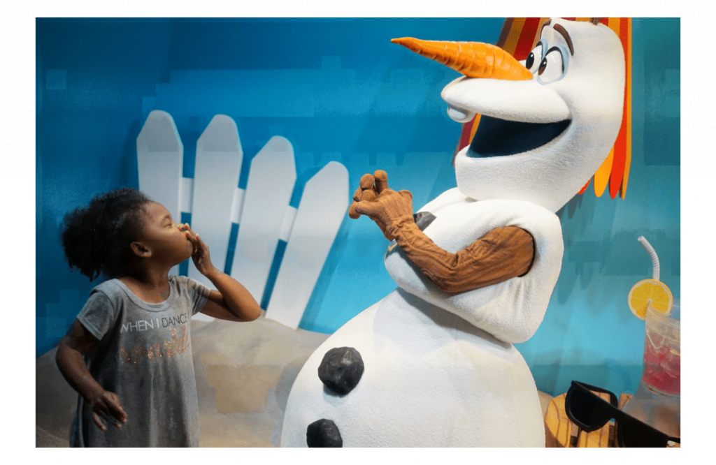 Meet Olaf at Echo Lake