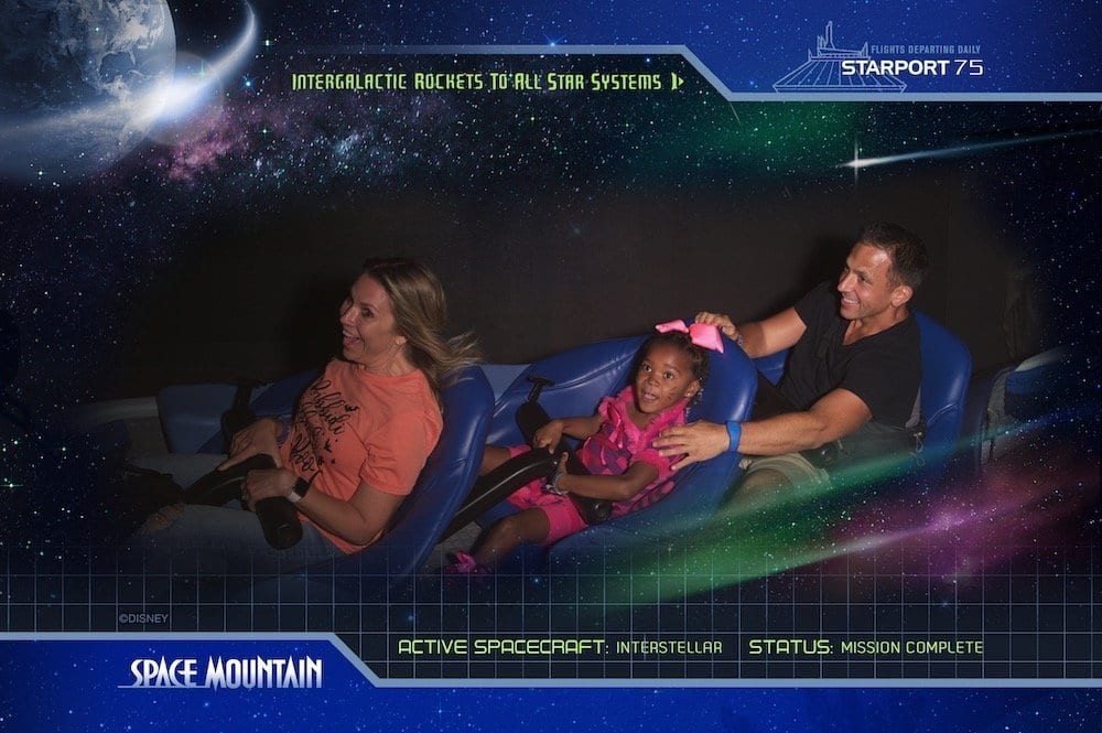 Space Mountain in the Dark