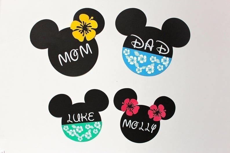 Tropical Mickey Cruise Magnets