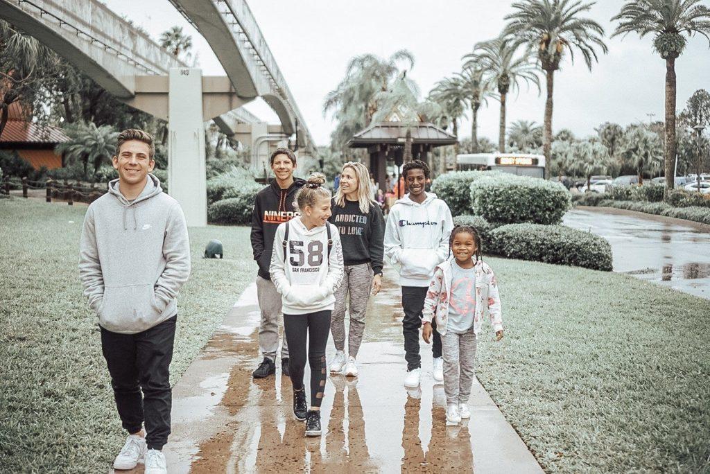 winter family vacation
