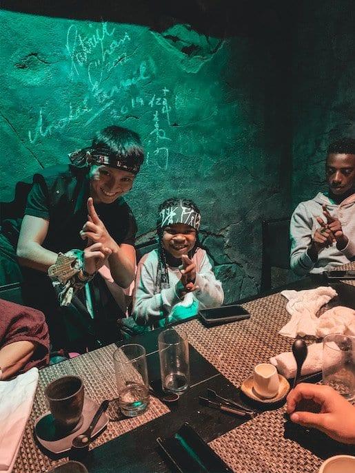 kids in tokyo ninja restaurant