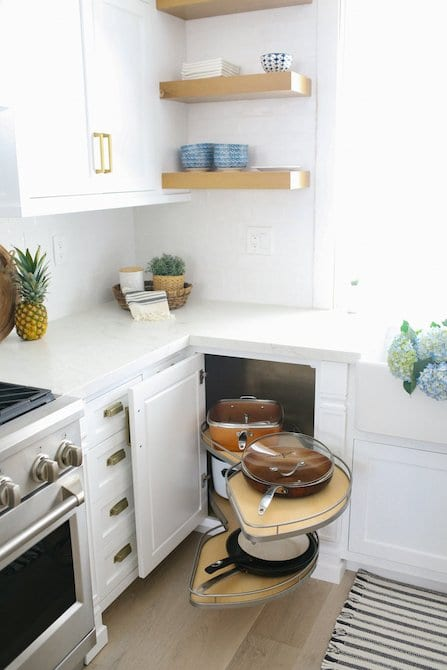 Pull out pan drawer custom kitchen cabinetry