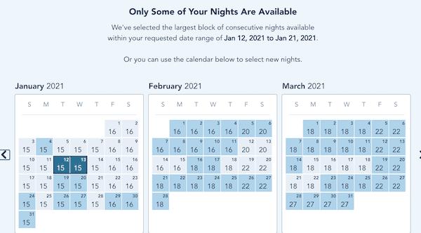 dvc rental availability calendar