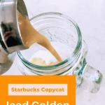 Iced Golden Ginger Drink