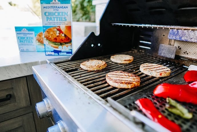 Easy & Delicious Spiced Mediterranean Burgers- featuring ALDI products.