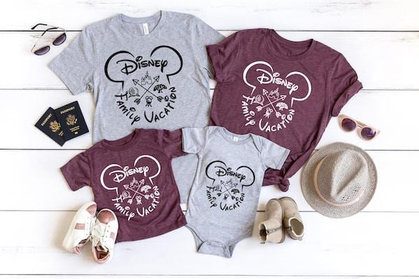 Disney World Family Shirts - All 4 Parks