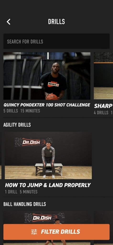 Dr. Dish Basketball Shooting Machine App