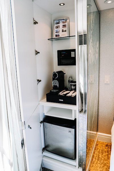 coffee bar inside ritz carlton room