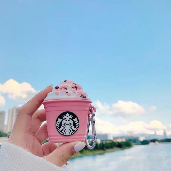 starbucks pink frappuccino case