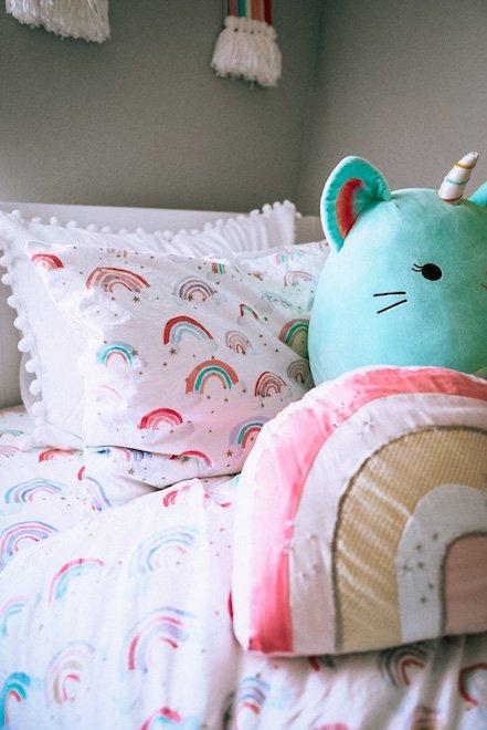 PotteryBarn Kids Rainbow Bedding