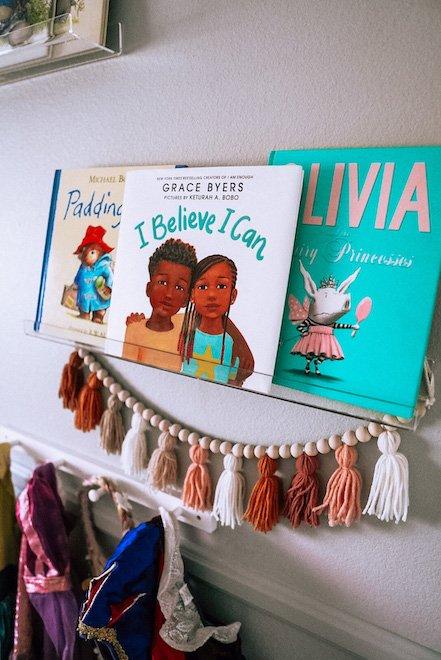 Clear Book Shelves