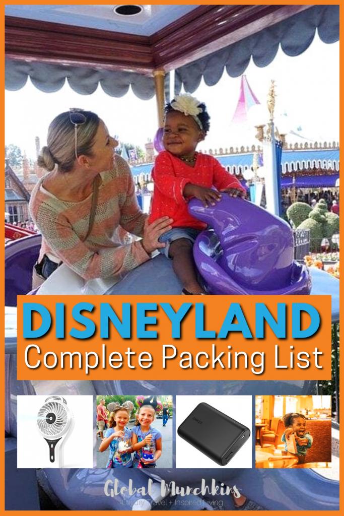 Disneyland Complete Packing List Global Munchkin