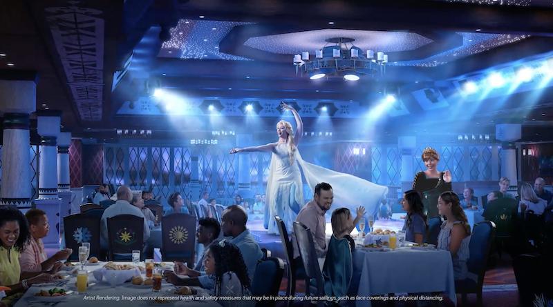 Disney Wish Frozen Dinner & Show