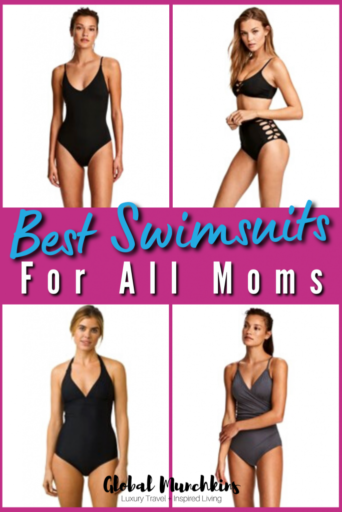Finding the perfect swimsuits for mom bodies has to be one of the toughest tasks us women face. Between saggy boobs and a few extra pounds around our waist (#KeepinItReal) it's not easy to find something that looks flattering while being comfortable enough to chase toddlers in. Not to worry though, I have scoured the web, spent hours trying on suits, even shed a few tears, but it was all worthwhile because I came up with the ultimate list of mom bathing suits for every shape and you are going to LOVE it!