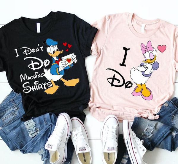 Donald Duck tee, daisy tee, disney tee, matching Disney tee, couples disney tee, I don't do matching tee shirts