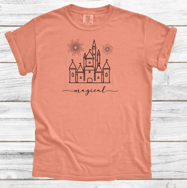 magical kingdom tee, Disney Matching tees, disney castle tee